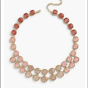 NWT Talbots Crackled Glass Statement Necklace